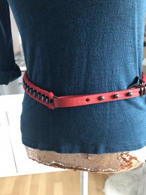 MNG Chain Belt dark red