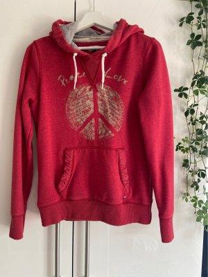 Hilfiger Denim Jersey con capucha rojo ladrillo-rojo claro