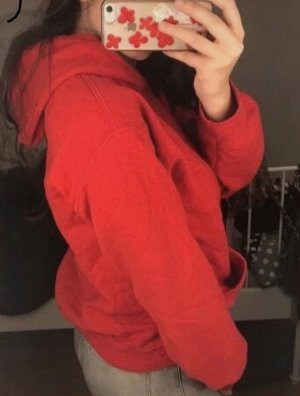 Roter hoodie Pullover
