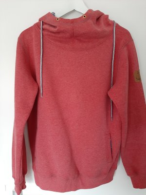 Derbe Hooded Shirt bright red