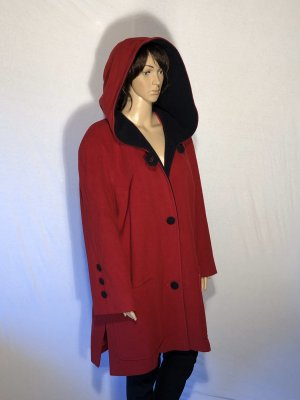 High Wool Coat multicolored