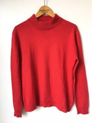 Roter Kaschmir Pullover Seide Mockneck Scandinavian Trend Cashmere