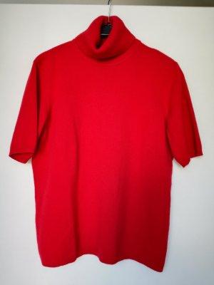 Roter kurzarm Pullover aus 100% Kaschmir