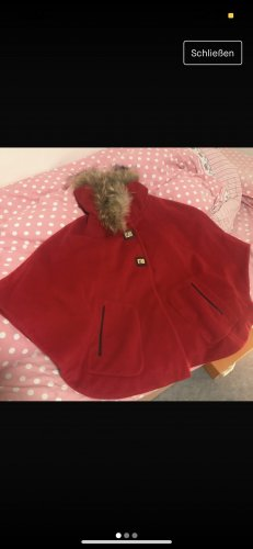 Hooded Coat dark red
