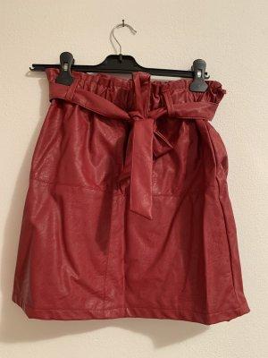 Pittarello Faux Leather Skirt carmine-dark red