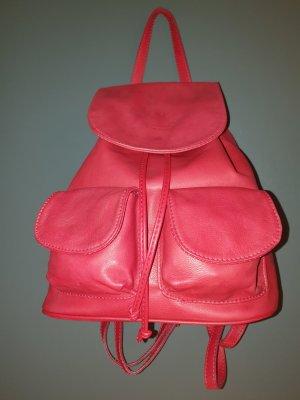 Vera Pelle Trekking Backpack brick red leather