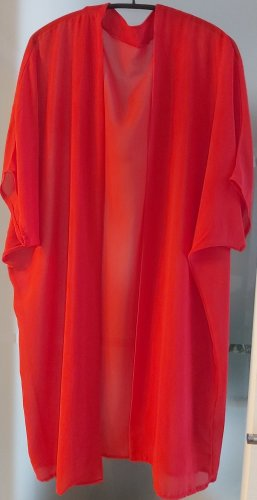 Oversized Coat red polyester