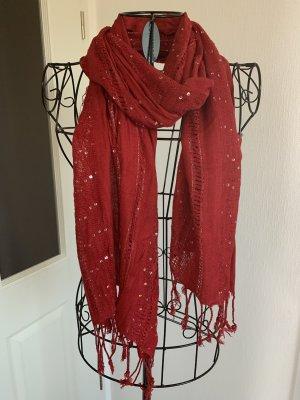 Écharpe d'été rouge