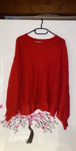 Roter leichter Strick Pullover