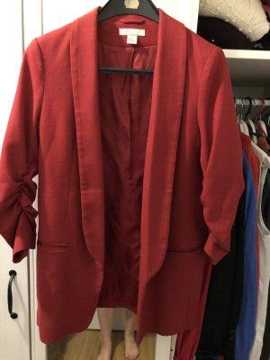 Roter Long Blazer