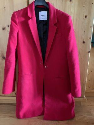 Roter Longblazer/Mantel