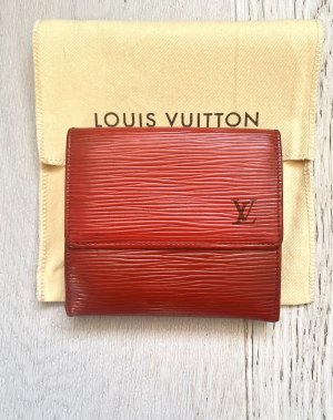 Roter Louis Vuitton Multi Geldbörsen