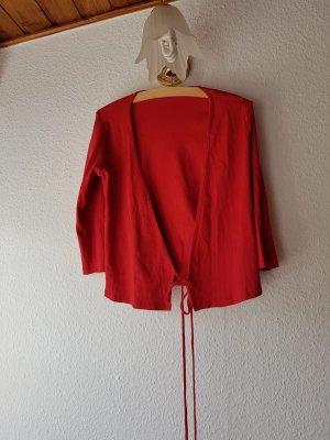 Roter Mango Cardigan / Strickjacke Baumwolle Ungetragen Gr S/M