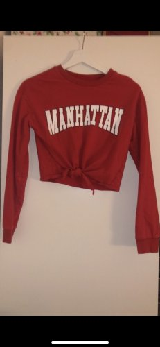 Roter Manhattan Pullover