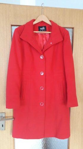 Wallis Giacca di lana rosso-rosso neon