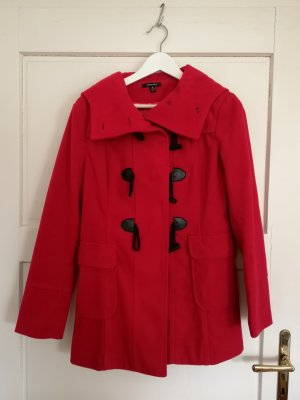 Heavy Pea Coat brick red-dark red polyester