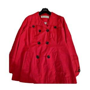 Roter moderner Mantel!