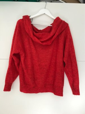 Roter off-shoulder Pullover