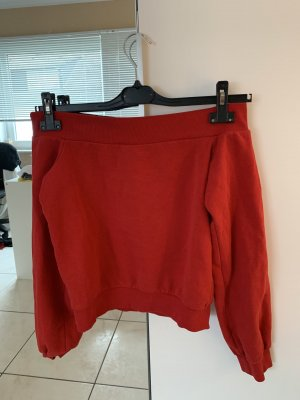 Roter off shoulder Pullover