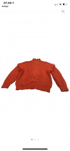 Mango Coarse Knitted Sweater red