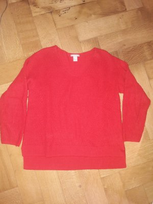 H&M Wool Sweater red