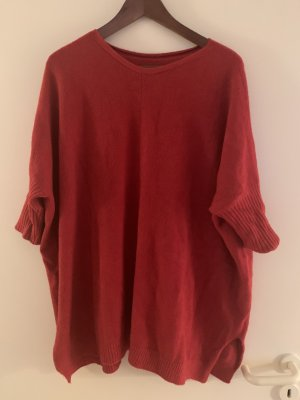 Roter oversize Pullover  Strickpullover
