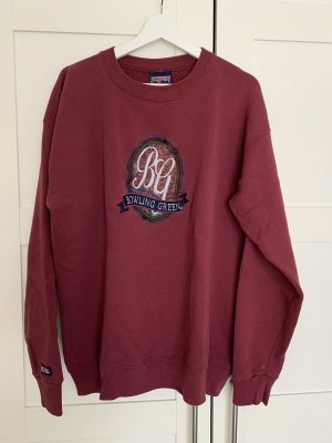 Sweter oversize bordo