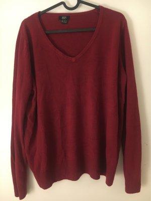 F&F Długi sweter bordo