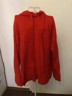 H&M Jersey con capucha rojo-nude