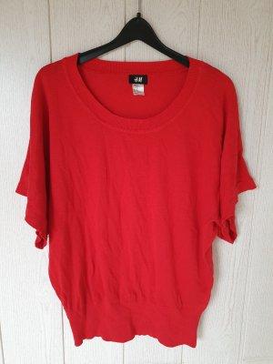 H&M Pull kimono rouge