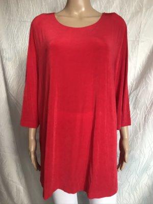 Citiknits Sweter z okrągłym dekoltem czerwony Włókno octanowe
