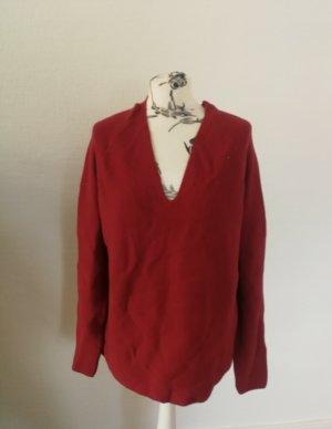 Armedangels V-Neck Sweater red