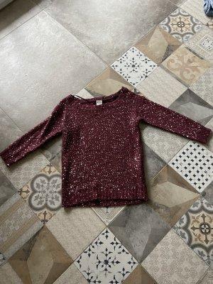 Roter Pullover mit Pailletten Vero Moda