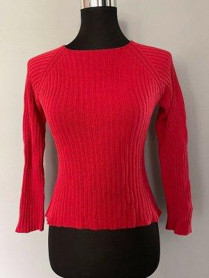 Roter Pullover / Strickpullover von Benetton, Gr. XS