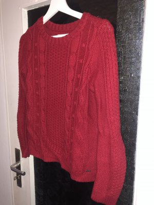 Hollister Knitted Sweater red-dark red