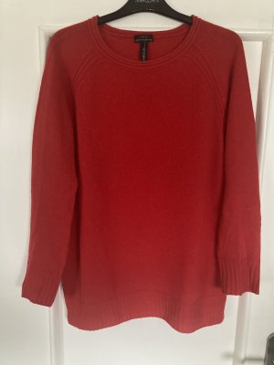 Marc Cain Oversized trui rood Wol