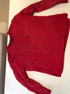 Polo Ralph Lauren Pullover all'uncinetto rosso