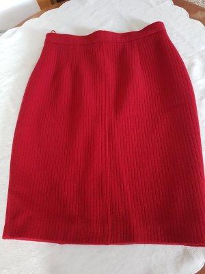 PAUW Falda de lana rojo oscuro