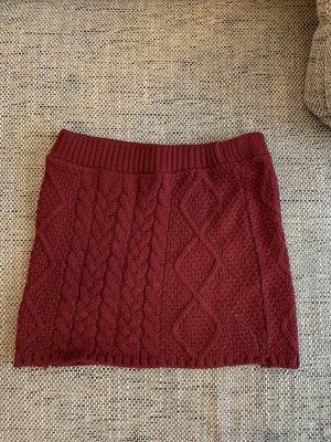 Atmosphere Jupe tricotée rouge foncé