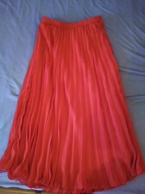 Primark Falda de lino rojo