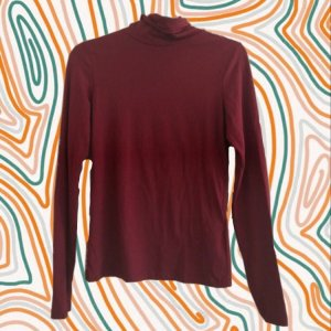 New Yorker Turtleneck Shirt bordeaux
