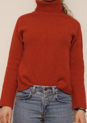 Sisley Sweter z grubej dzianiny ciemnoczerwony