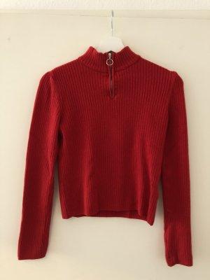 Roter Rollkragenpullover von Urban Outfitters