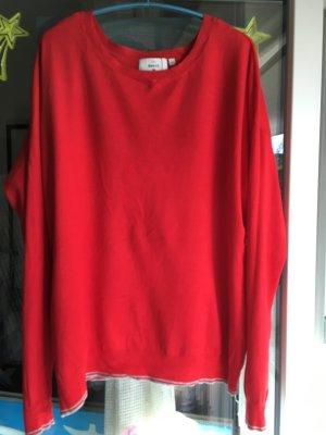 C&A Basics Sweter z okrągłym dekoltem czerwony Wiskoza