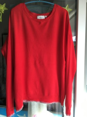 C&A Basics Kraagloze sweater rood Viscose