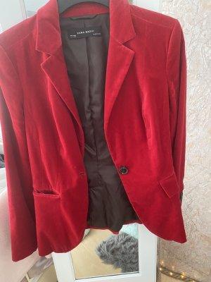 Zara Blazer de esmoquin rojo oscuro