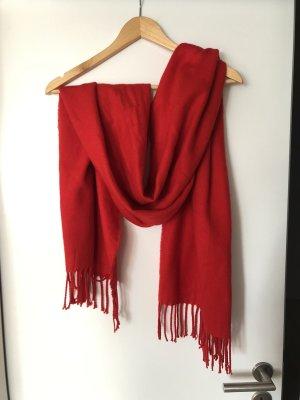 H&M Bufanda de flecos rojo
