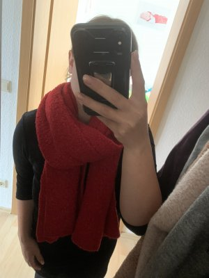 C&A Knitted Scarf red