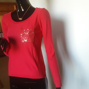 Gebreid shirt rood