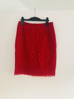 Esprit Falda de encaje rojo